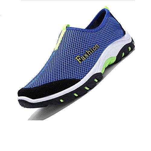 Hommes creusant en été de chaussure respirante casual chaussures NET Blue