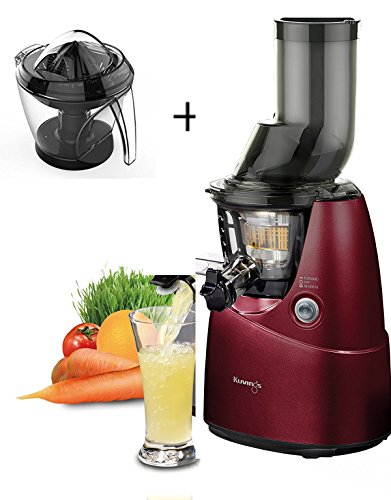 KUVINGS B6000 RED WITH OPTIONAL CITRUS PPRESS