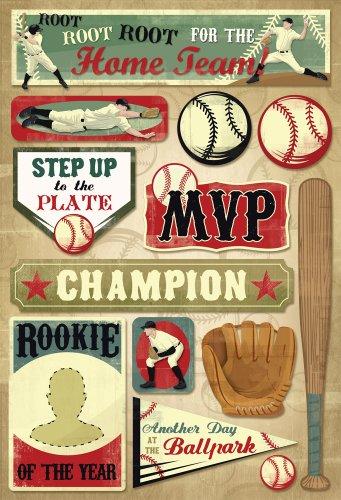 Unbekannt Karen Foster 10951 Design Scrapbooking Stickerbogen säure-ligninfrei Softball MVP Root for The Hoome Team -