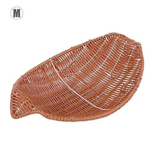 Ingeniously Geflochtener Obstkorb Boot - Förmiger Obstkorb aus Kunststoff Hotel Home Handmade Geflochtener Korb Küchenbrot Gemüsekorb Obstaufbewahrungskorb - Braun Hotel-boot