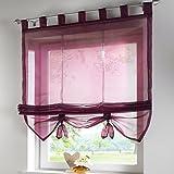 SIMPVALE tende finestra interna in stile romano pura cucina soggiorno e balcone, Poliestere, vino rosso, larghezza 100 cm / altezza 155 cm