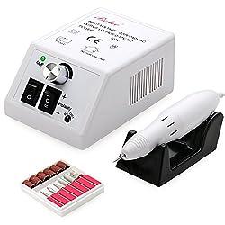 Belle Elektrische Acrylic Nail Maniküre Pediküre Drill Bits Kit Set Schleifbänder (Wählen Sie die höchste Qualität nicht der Billigste) (Weiß)