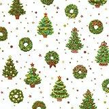 Caspari Inc. – Papel de regalo (2,4m), diseño de árbol de navidad