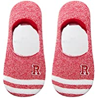 Maivasyy 3 Paar Socken Boot Socks Frauen Unsichtbar Silikon Rutschhemmend Kurze Damen Frühling Sommer Socken, Rot - preisvergleich
