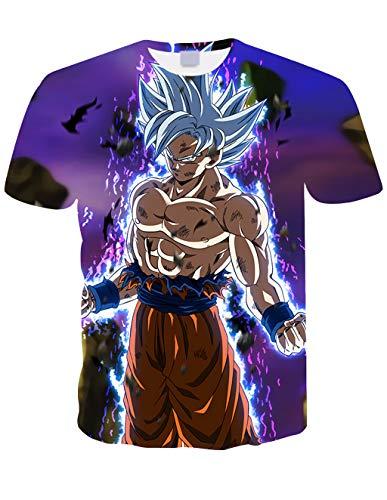 Maglietta Uomo Bambino Maniche Corte Dragon Ball Maglia con Stampa 3D Estate Tees Camicetta Tops Casuale T Shirt Elegante Blusa Camicia Maglietta da