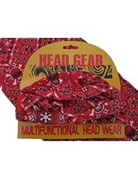 Red Skulls Skull Crossbones Pattern Multifunctional Necker Biker Neck Warmer Head Gear Color : Red Black White Size: One Size