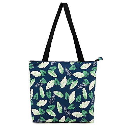 Marsoul Womens Eco Friendly Shopping Bag wiederverwendbare Tragetasche Tragbare Aufbewahrungstaschen Praktische Shopper (Kleines grün)