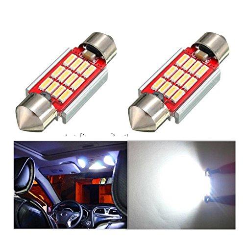 2 x 330 lumens CANBUS Super Bright 3014 Garde toujours d'erreur gratuit 569 578 211–2 212–2 ampoules LED utilisé pour lampe dôme, Xenon Blanc