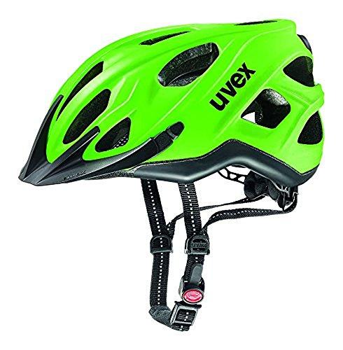 Uvex Erwachsene City s Mountainbikehelm, Neon Green/Black Mat, 56-61