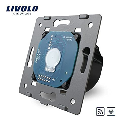 Livolo EU Standard Wall Light Remote Touch Dimmer Switch Without Glass Panel, 110~250V ,VL-C701DR