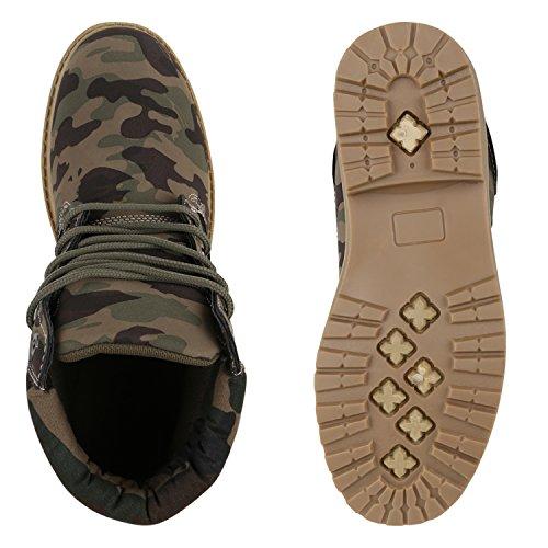 Damen Outdoor Worker Boots Camouflage Schuhe Camouflage Grün