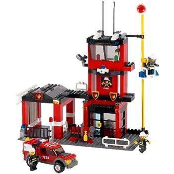 Lego City 7240 Fire Station Amazon Co Uk Toys Amp Games