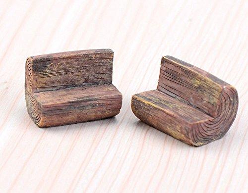 milopon Micro Paisaje Decorar Banco de madera//Banco de jard/ín en miniatura para casa de mu/ñecas casa de mu/ñecas Muebles Jard/ín Jard/ín