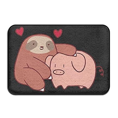 Faultier liebt Pig Home Fußmatte Fußmatte 4060rutschfest