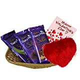 #4: Maalpani Valentine Day Gift Pack - Silk Chocolate Set With Basket And Greetings