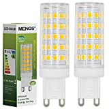 MENGS 2 Pack de G9 10W=80W Lampadine a LED Bianco Caldo 3000K AC 220-240V 800LM con il materiale del PC