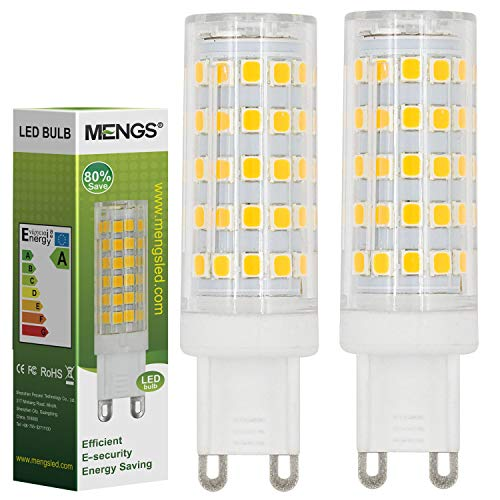 MENGS® 2 Pack de G9 10W=80W Lampadine a LED Bianco Caldo 3000K AC 220-240V 800LM con il materiale del PC