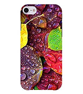 Chiraiyaa Designer Printed Premium Back Cover Case for Apple iPhone 7 (leaves colorful water drops) (Multicolor)