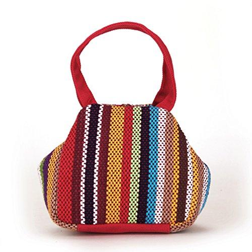 YouPue Frauen Vintage Handtasche Tasche Nationale Wind Geldbeutel Geldsack Clutch Rot
