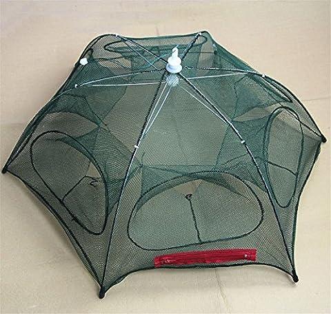 Useful Folded Fishing Net Fish Shrimp Minnow Crab Baits Cast Mesh Trap Portable
