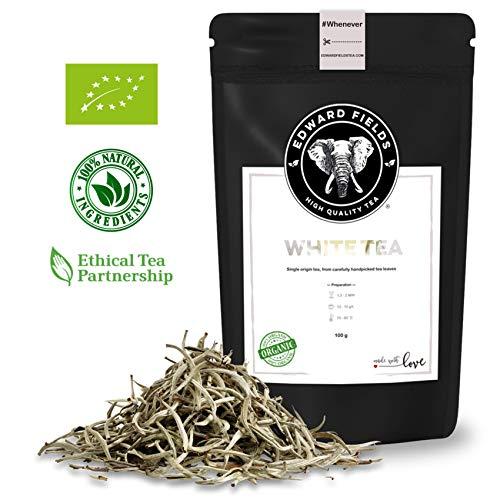 Edward Fields ® - Té Blanco Orgánico de alta calidad. Cantidad: 100g. Formato: Granel. Origen: Vietnam