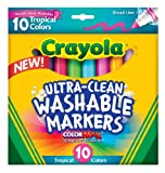 Crayola Ultra-Clean Color Max Broad Line Washable Markers-Tropical Colors 10/Pkg