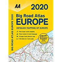 Big Road Atlas Europe 2020 Spiral bound (AA Road Atlas Europe) 1
