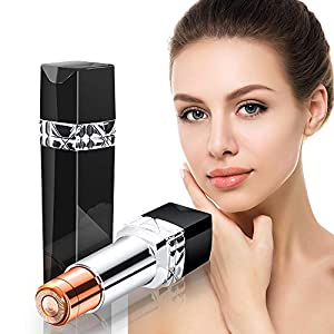 Flawless Facial Hair Removal for Women Painless Face Razors Electric Portable Pocket Facial Hair Remover for Lip Chin Cheeks & Neck Ladies Trimmer Waterproof Epilator for Women-Black