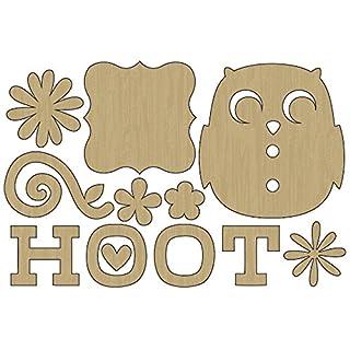adorn-it verschachtelt Eule mint Lasergeschnittene Holz Formen Hoot, Acryl, mehrfarbig
