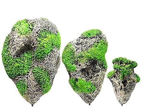 XJoel Aquarium pierre ponce flottant artificiel suspendu rocher décoratif réservoir de poissons