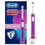 Oral-B Junior Spazzolino Elettrico Ricaricabile per Bambini da 6 Anni, 1 Testina, Viola
