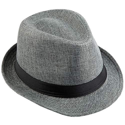 Kostüm England Themen Party - KYEYGWO Fedora-Hut Mode Filz Gangster Hüte für Mann und Frau, Trilby Snap breiter Krempe Vintage Style Dress Hut