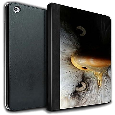 Stuff4 PU Cuero Funda/Carcasa/Folio Libro en Para el Apple iPad Air 2 tablet / serie: Animales de la fauna - Águila/ave de