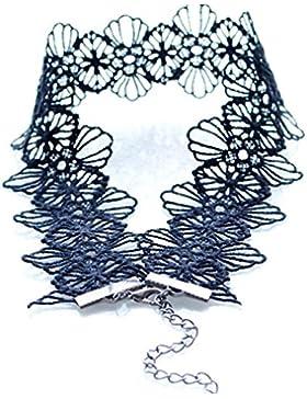 Frauen Mädchen schwarz Choker Spitze Gothic Halskette