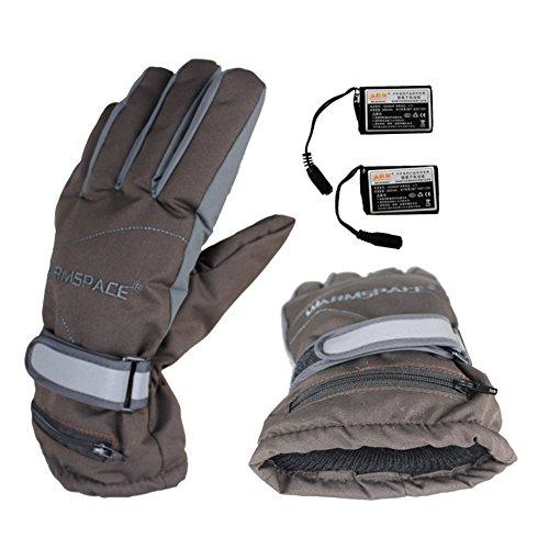 Guantes térmicos eléctricos de Bulary, recargables, impermeables, con aislamiento térmico, guantes calefactores para invierno, calentador de manos para deportes al aire libre