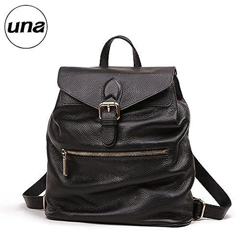 Autunno/Inverno nuovo vacchetta scamosciata Zaino in pelle borse borse casual popolare pacchetto d'onda,Nero