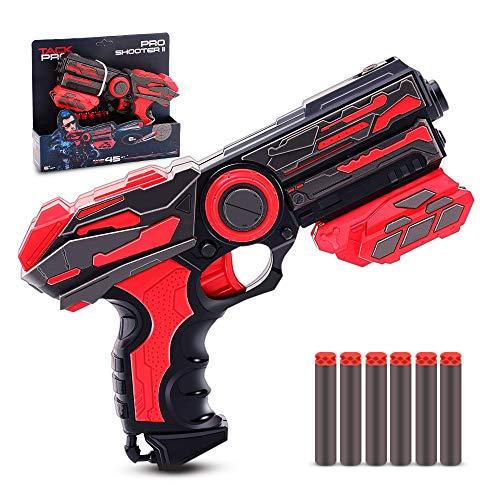 ielzeugblaster Spielzeugpistole Einzelschusswaffe mit 6 Darts Pfeile Blaster Set für Kinder ab 6 Jahren ()