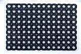 Ultralux - Alfombrilla de Drenaje de Goma para Interiores y Exteriores, Color Negro, Caucho, Negro, 100 cm x 150 cm