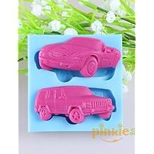 AIURLIFE en forma de coche fondant moldes de silicona pastel de chocolate, herramientas de decoración para hornear