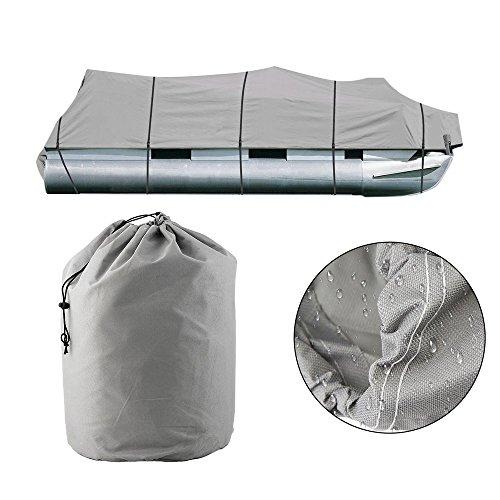 Preisvergleich Produktbild Dailyinshop Universal Design Square Trailerable Ponton Boot Abdeckung Wasserdichtes Gewebe (Farbe: Grau) (Größe: 21-24ft)