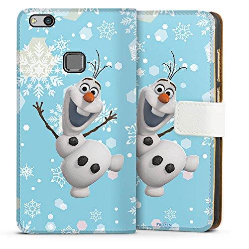 Huawei P10 lite Tasche Hülle Flip Case Disney Frozen Olaf Geschenk (Frozen Disney Plastik Geschenk Tasche)