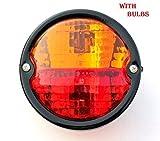 Bajato: Runde Vintage Traktor Hinten Heck Lampe Licht mit Nummernschild Fenster 12v- 11000801