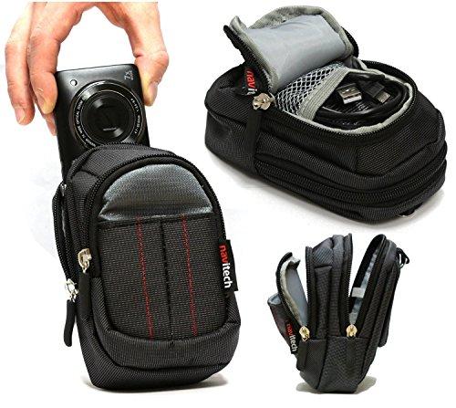 Navitech Schwarze Wasser wiederständige Digital Kamera Tasche für das Panasonic Lumix DMC-TZ61EG-K Travellerzoom Kompaktkamera
