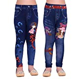 #2: Ziva Fashion Girls Blue Printed Jeggings (Pack of 2)