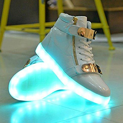 [Presente:piccolo asciugamano]JUNGLEST® 11 colori led luminoso-Scarpe da ginnastica Unisex, in stile Casual, per scarpe-Coppia di luci led, c32