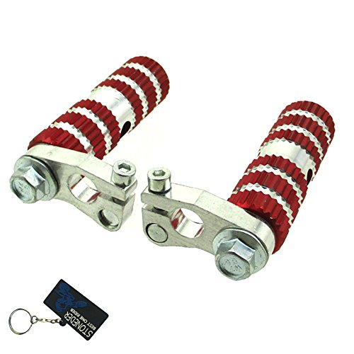 stoneder Aluminium rot Racing FOOTPEGS Fußstütze Heringe für die meisten chinesischen 2Takt 47cc 49cc Mini Pocket Bike mta1MTA2