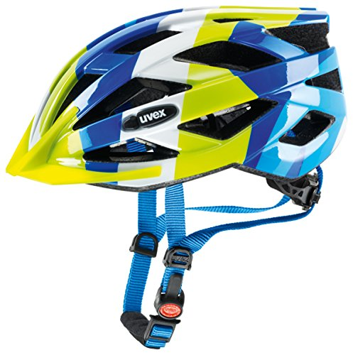 Uvex Unisex - Kinder Helm Air Wing, Blue/Green, 52-57 cm, 4144260615