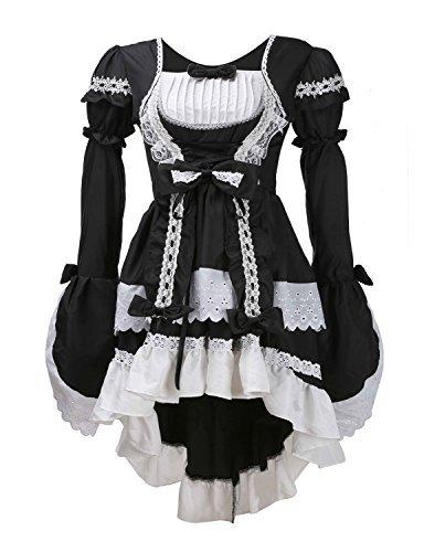 (LATH.PIN Damen Cosplay Kostuem Lolita gotische Kleider Abendkleider Partykleid)