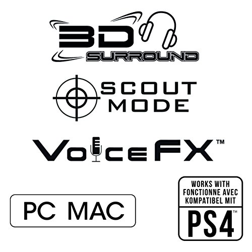 Creative Sound Blaster Tactic3D Rage Wireless V2.0 Gaming Headset für PC, Mac und PS4, schwarz - 5