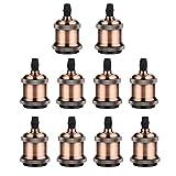 GreenSun 10 Stück Edison E27 Antique Alu Lampenfassung Deckenfassung Fassung Socket Lampenfuss Retro Vintage Halter fuer Haengeleuchte Deckenleuchte Adapter Beleuchtung Sockel G05